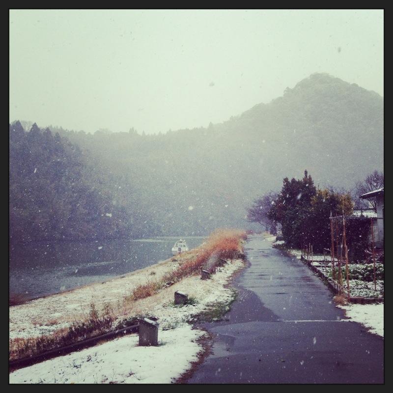 かっぱ公園の雪景色