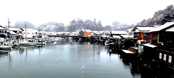 雪の隠岐の島西郷