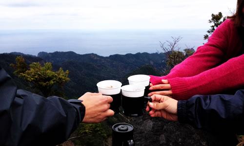 トカゲ岩山頂にて