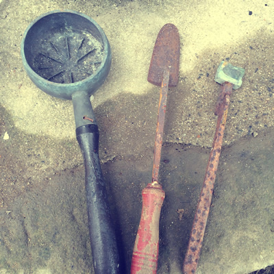 アイロンと鉄砲玉の型