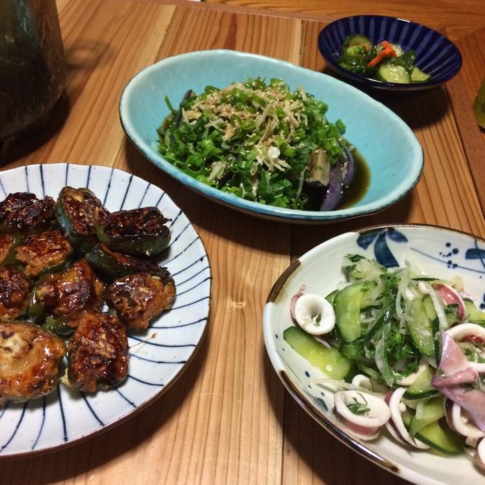 庭野菜夕飯
